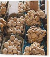 Market Mushrooms Wood Print