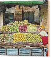 Market Of Djibuti-1 Wood Print by Jenny Senra Pampin
