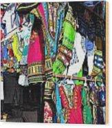 Market Of Djibuti With More Colors Wood Print by Jenny Senra Pampin