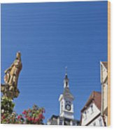 Market Square In Aalen, Germany Wood Print