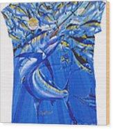 Marlin Ladies Shirt Wood Print