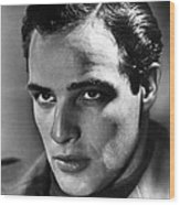 Marlon Brando, 1950s Wood Print by Everett