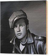 Marlon Brando  Wood Print by Andrzej Szczerski