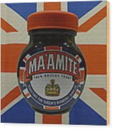 Marmite The Growing Up Spread Wood Print