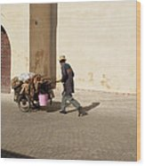 Marrakech Old Town Street Life Wood Print