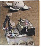Mars Rover Testing Wood Print
