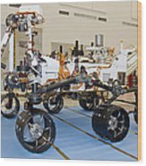 Mars Science Laboratory Rover Wood Print
