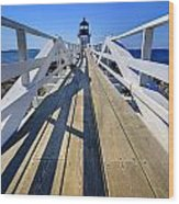 Marshal Point Lighthouse Walkway Wood Print