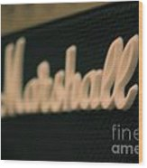 Marshall Amp  Wood Print