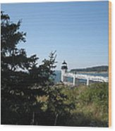 Marshall Point Lighthouse Wood Print by Debra LePage