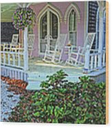 Marthas Vineyard Cottage Wood Print