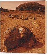 Martian Landscape Wood Print