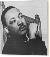 Martin Luther King, Jr Wood Print