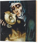 Mary And Jesus Painting At Peace Center Wood Print