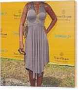 Mary J. Blige At A Public Appearance Wood Print by Everett