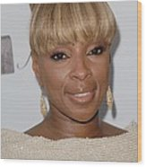 Mary J Blige At Arrivals For 2011 Wood Print by Everett