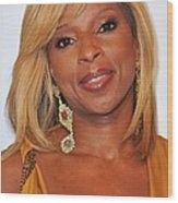 Mary J. Blige In Attendance For 2nd Wood Print by Everett