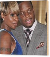 Mary J. Blige, Kendu Isaacs At Arrivals Wood Print