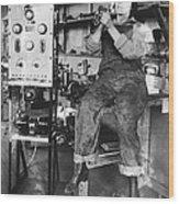 Mary Loomis, Radio School Operator Wood Print