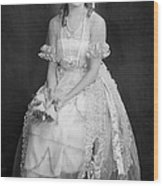 Mary Pickford In Her Wedding Dress, 1920 Wood Print