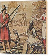 Mary Read And Anne Bonny, 18th Century Wood Print