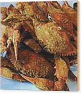 Maryland Steamed Crabs Wood Print