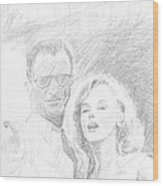 Marylin Monroe And Arthur Miller Wood Print
