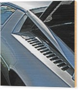 Maserati Merak Detail Wood Print by Samuel Sheats