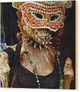 Mask Ball Wood Print