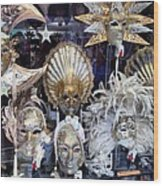 Masks in Venice Italy Wood Print