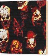 Masks Of Fear Wood Print
