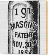 Mason Jar Wood Print