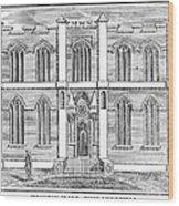 Masonic Hall, C1830 Wood Print