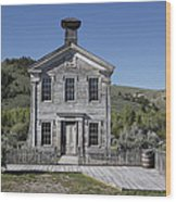 Masonic Temple 3 - Bannack Montana Wood Print