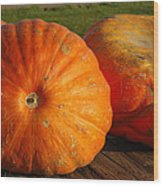 Mass Pumpkins Wood Print