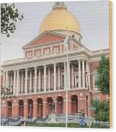 Massachusetts State House I Wood Print