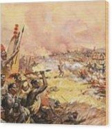 Massacre At Ulundi Wood Print