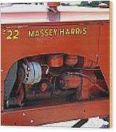 Massey Harris Details Wood Print