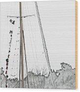Mast Head Wood Print