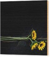 Master Sunflowers Wood Print