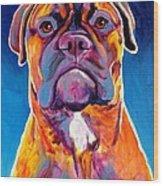 Bullmastiff - Lexi Wood Print