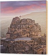 Matera Sassi Wood Print by Michael Avory