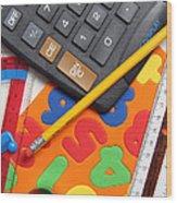 Mathematics Tools Wood Print