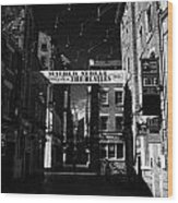 Mathew Street In Liverpool City Centre Birthplace Of The Beatles Merseyside England Uk Wood Print