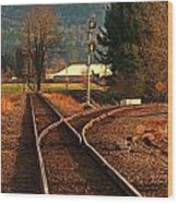 Matsqui Taintracks Wood Print