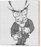 Matt Ridley, Caricature Wood Print by Gary Brown
