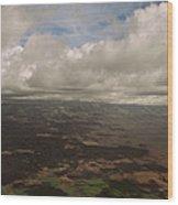 Maui Beneath The Clouds Wood Print