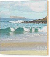 Maui Hawaii Beach Wood Print by Rebecca Margraf