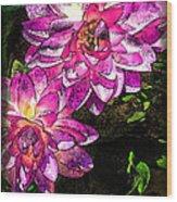 Maui Pink Garden Wood Print