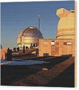 Mauna Kea Observatories Wood Print